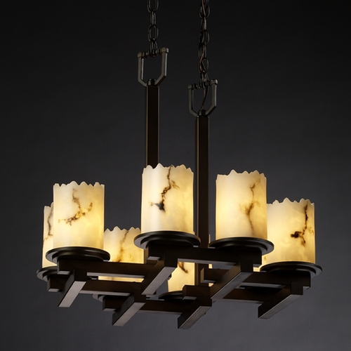 Justice Design Group Justice Design Group Lumenaria Collection Chandelier FAL-8770-12-DBRZ
