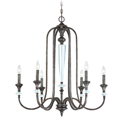 Jeremiah Lighting Jeremiah Boulevard Mocha Bronze, Silver Accents Chandelier 26726-MB
