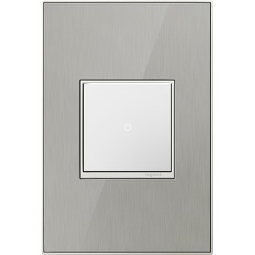 Legrand Adorne Legrand Adorne Brushed Stainless 1-Gang Switch Plate AWM1G2MS4