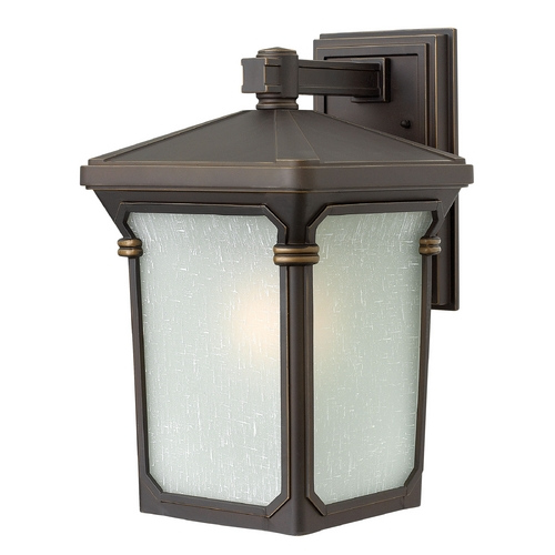 Hinkley Lighting Outdoor Wall Light with White Glass in Oil Rubbed Bronze Finish 1354OZ
