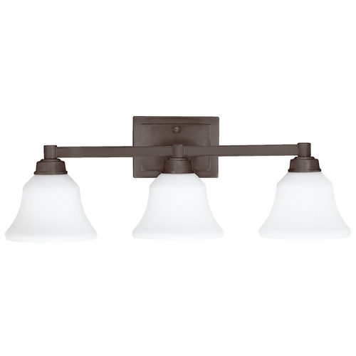Kichler Lighting Kichler Bathroom Light with White Glass in Olde Bronze Finish 5390OZ