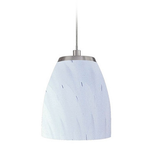 Elk Lighting Low Voltage LED Mini-Pendant Light with White Glass PF1000/1-LED-BN-WH