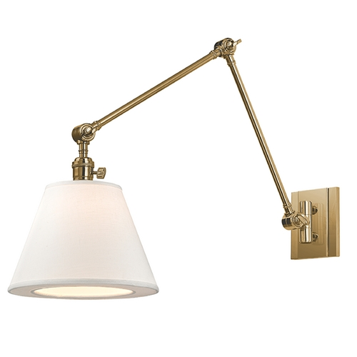 Hudson Valley Lighting Hudson Valley Lighting Hillsdale Aged Brass Swing Arm Lamp 6234-AGB