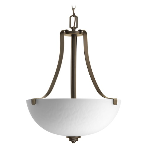Progress Lighting Progress Lighting Legend Antique Bronze Pendant Light with Bowl / Dome Shade P3505-20