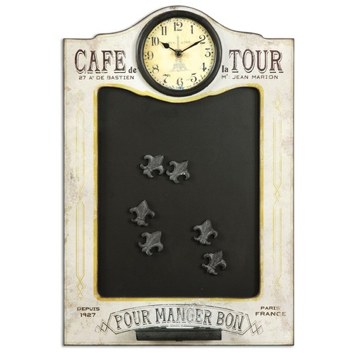 Uttermost Lighting Uttermost Cafe de la Tour Chalkboard and Clock 13991