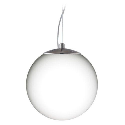 Besa Lighting Besa Lighting Callisto Satin Nickel LED Pendant Light with Globe Shade 1KX-432807-LED-SN