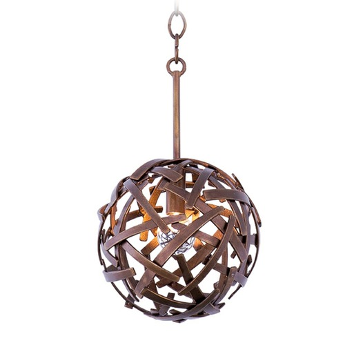 Kalco Lighting Kalco Ambassador Copper Patina Mini-Pendant Light 501550CP
