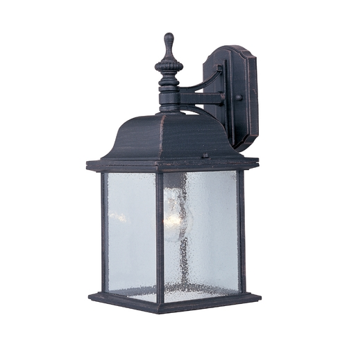 Maxim Lighting Outdoor Wall Light with Clear Glass in Rust Patina Finish 1056RP