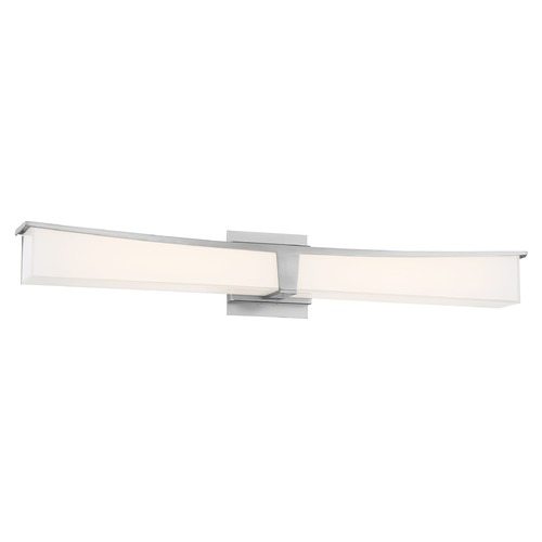 George Kovacs Lighting George Kovacs Plane Brushed Nickel LED Bathroom Light P1534-084-L