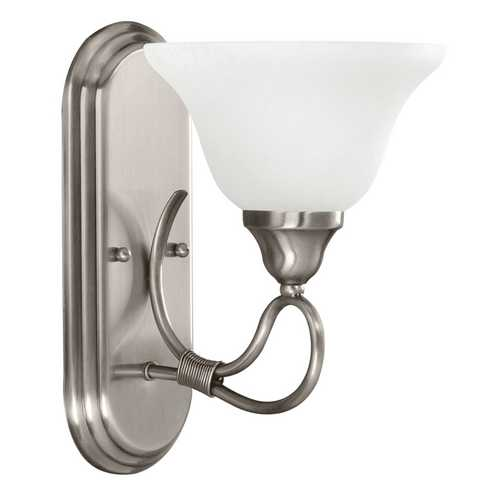 Kichler Lighting Kichler Sconce Wall Light with White Glass in Antique Pewter Finish 5556AP