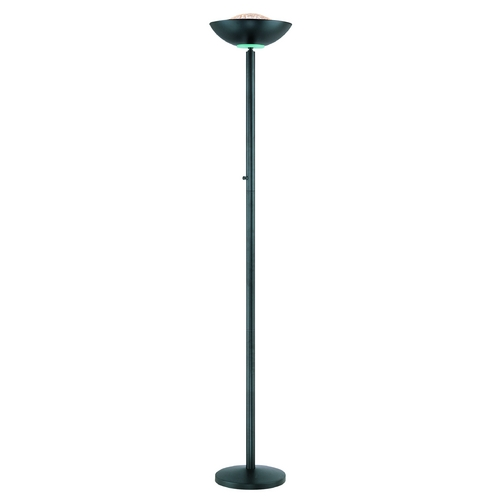 Lite Source Lighting Modern Torchiere Lamp in Black Finish LS-80910BLK