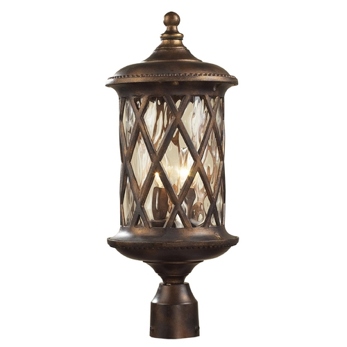 Elk Lighting Post Light with Clear Glass in Hazlenut Bronze Finish 42034/2