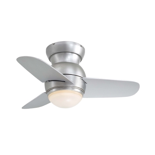 Minka Aire Modern Ceiling Fan with Light with White Glass F510-BS