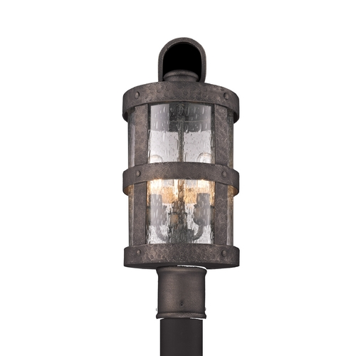 Troy Lighting Post Light with Clear Glass in Barbosa Bronze Finish PF3316