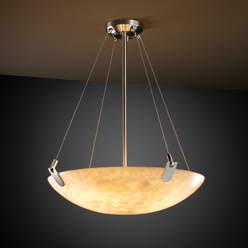 Justice Design Group Justice Design Group Clouds Collection Pendant Light CLD-9622-35-NCKL