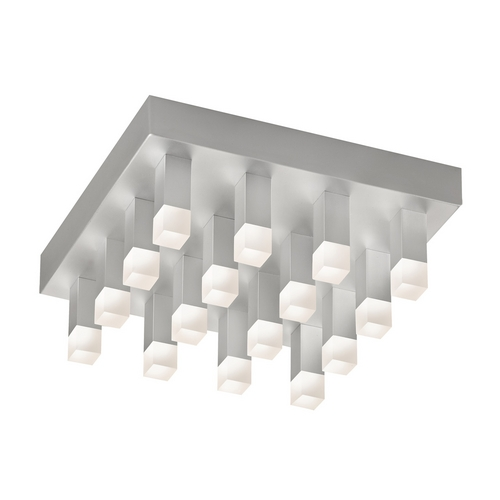 Sonneman Lighting Modern LED Flushmount Light with White in Bright Satin Aluminum Finish 2122.16