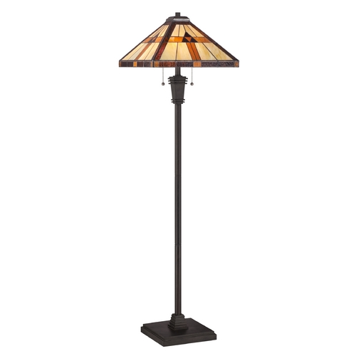 Quoizel Lighting Floor Lamp with Multi-Color Glass TF1427F