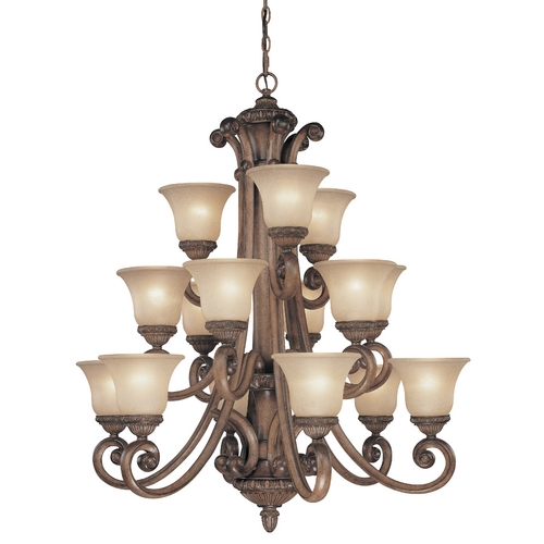 Dolan Designs Lighting Fifteen-Light Chandelier 2403-54