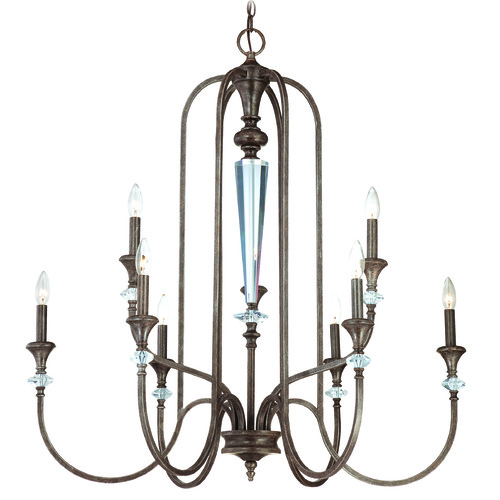 Jeremiah Lighting Jeremiah Boulevard Mocha Bronze, Silver Accents Chandelier 26729-MB