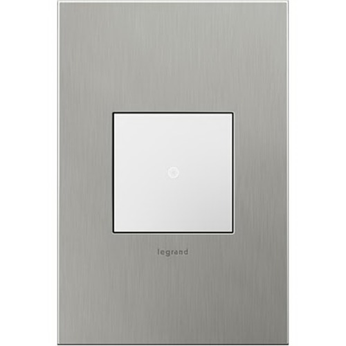 Legrand Adorne Legrand Adorne Brushed Stainless Steel 1-Gang Switch Plate AWC1G2BS4