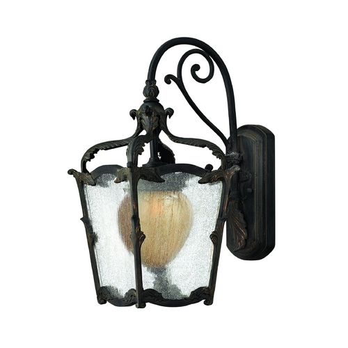 Hinkley Lighting Outdoor Wall Light with Clear Glass in Aged Iron Finish 1420AI
