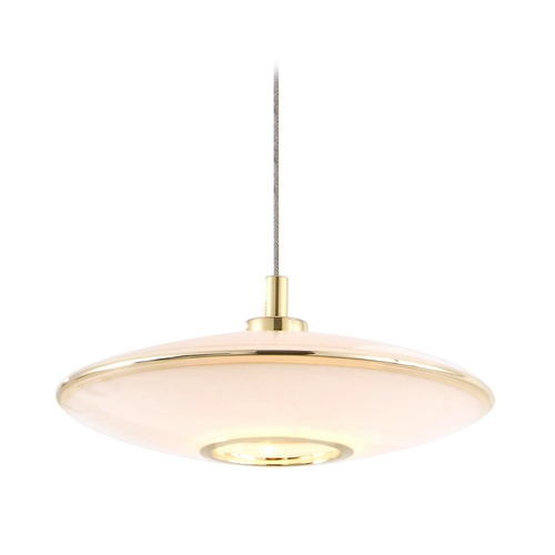 Holtkoetter Lighting Holtkoetter Modern Low Voltage Mini-Pendant Light with White Glass C8110 S006 GB20 PB