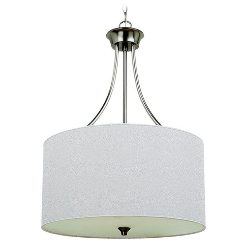 Sea Gull Lighting Sea Gull Lighting Stirling Brushed Nickel Pendant Light with Drum Shade 65953BLE-962