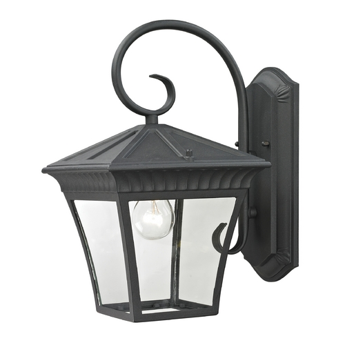 Cornerstone Lighting Cornerstone Lighting Ridgewood Matte Textured Black Outdoor Wall Light 8411EW/65