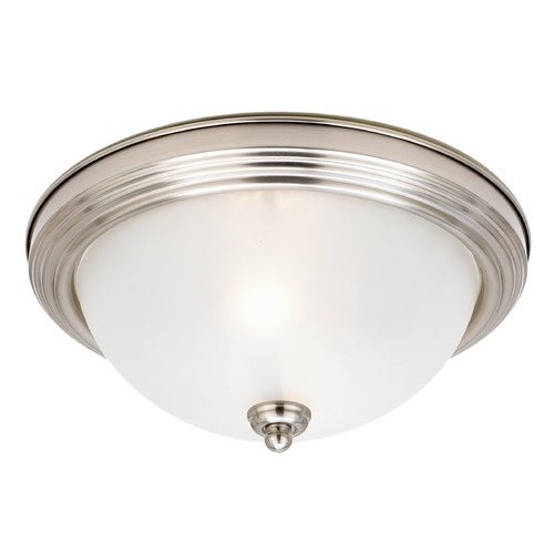 Sea Gull Lighting Sea Gull Lighting Ceiling Flush Mount Brushed Nickel LED Flushmount Light 7716491S-962