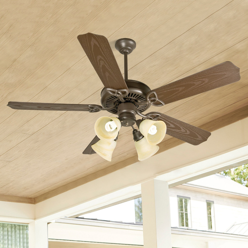 Craftmade Lighting Craftmade Lighting Outdoor Patio Brown Ceiling Fan with Light K10430