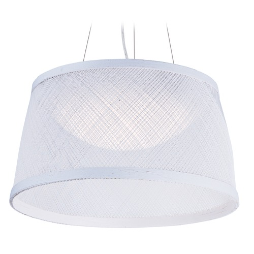 Maxim Lighting Maxim Lighting Bahama White LED Pendant Light with Bowl / Dome Shade 54372WT