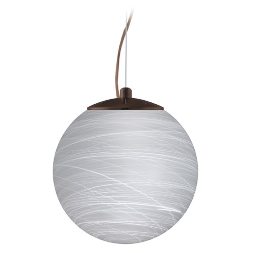 Besa Lighting Besa Lighting Callisto Bronze LED Pendant Light with Globe Shade 1KX-432860-LED-BR
