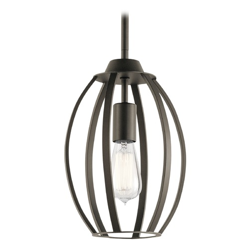 Kichler Lighting Transitional Pendant Light Olde Bronze Tao by Kichler Lighting 44054OZ