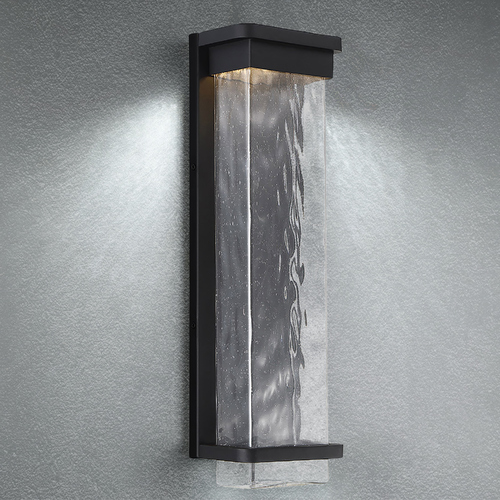 Modern Forms by WAC Lighting Modern Forms Vitrine Black LED Outdoor Wall Light 3000K 623LM WS-W32521-BK