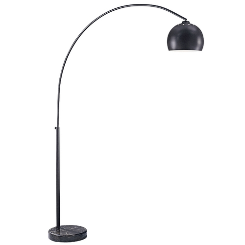 George Kovacs Lighting Modern Arc Lamp in Dorian Bronze with Brown Marble Base Finish P053-615B
