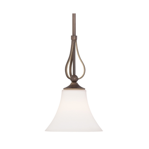 Quoizel Lighting Mini-Pendant Light with White Glass SPH1508PN
