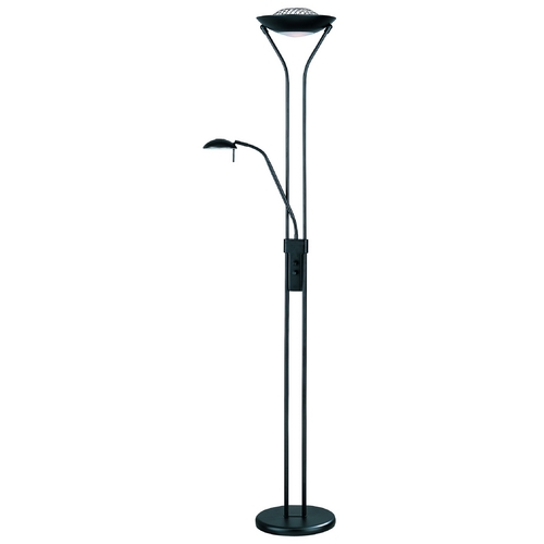 Lite Source Lighting Duality II Torchiere Lamp LS-80984BLK