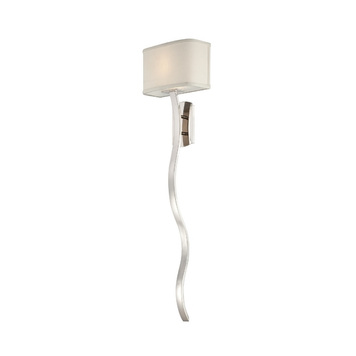 Quoizel Lighting Modern Switched Sconce Wall Light with White Shade in Imperial Silver Finish UPHL8701IS