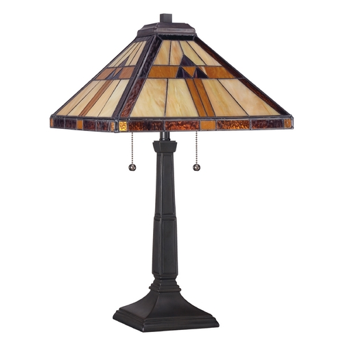 Quoizel Lighting Table Lamp with Multi-Color Glass TF1427T