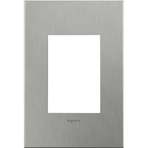 Legrand Adorne Legrand Adorne Brushed Stainless Steel 1-Gang 3-Module Switch Plate AWC1G3BS4