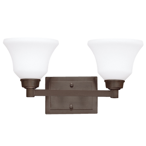 Kichler Lighting Kichler Bathroom Light with White Glass in Olde Bronze Finish 5389OZ