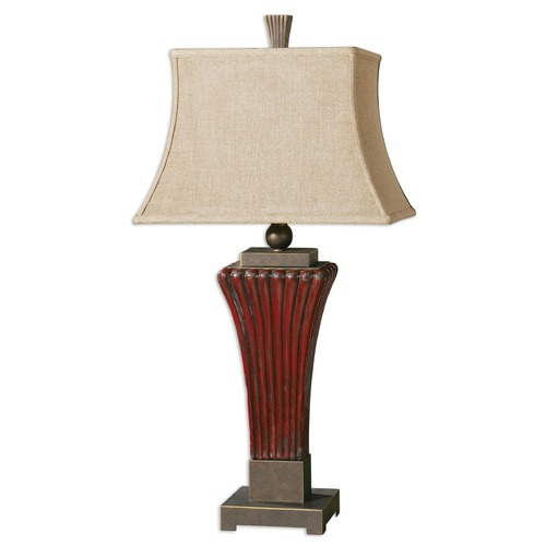 Uttermost Lighting Uttermost Rosso Ribbed Ceramic Lamp 26465