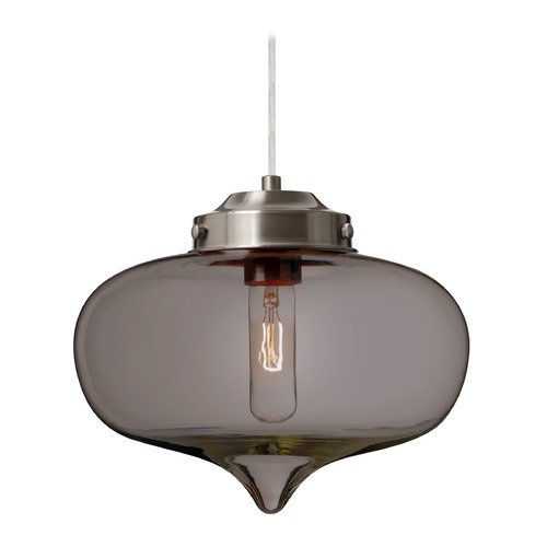 Besa Lighting Besa Lighting Mira Satin Nickel Pendant Light with Oblong Shade 1JT-MIRATM-SN