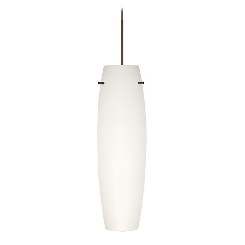 Besa Lighting Besa Lighting Tu Bronze LED Mini-Pendant Light with Oblong Shade 1XT-412107-LED-BR