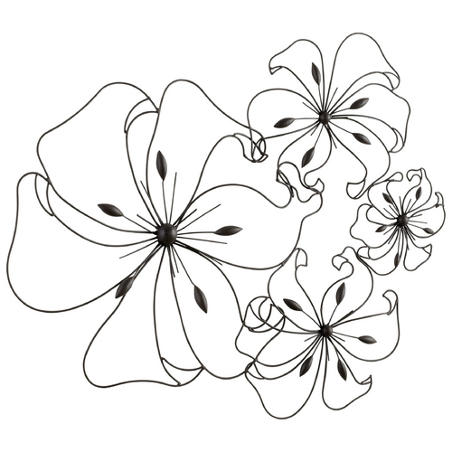 Cyan Design Cyan Design Fancy Flower Graphite Wall Art 05832