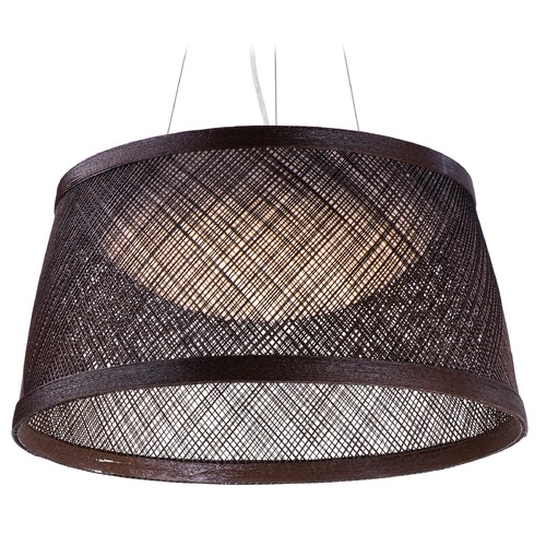Maxim Lighting Maxim Lighting International Bahama Chocolate LED Pendant Light with Bowl / Dome Shade 54374CH