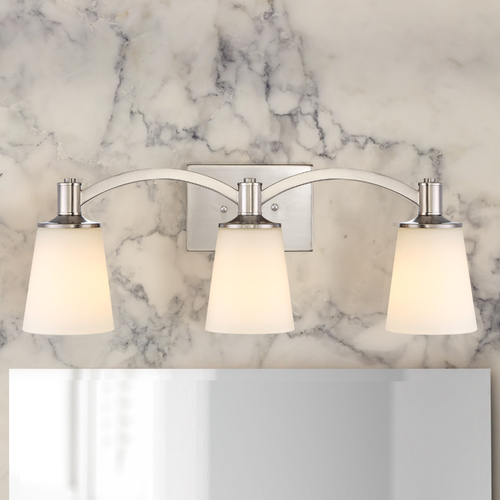 Nuvo Lighting Laguna 3-Light Bathroom Light in Brushed Nickel 60/5823