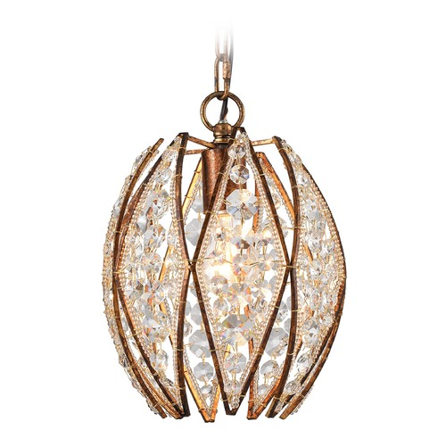 Elk Lighting Elk Lighting Kumbaya Spanish Bronze Mini-Pendant Light 11875/1
