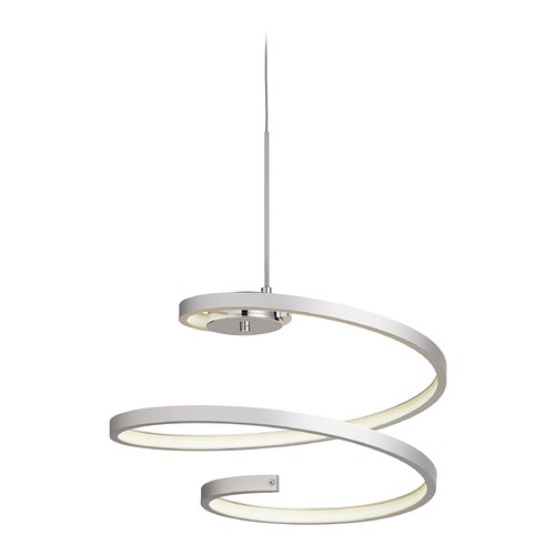 Elan Lighting Elan Lighting Tintori Chrome + Oxidised Silver LED Pendant Light 83575