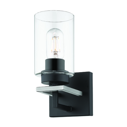 Golden Lighting Golden Lighting Tribeca Black Sconce 6070-BA1BLK-PW